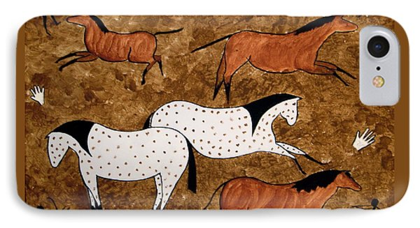 Cave Horses IPhone Case by Stephanie Moore