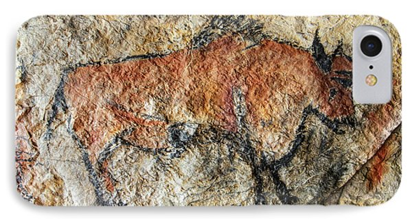 Cave Painting In Prehistoric Style IPhone Case by Michal Boubin
