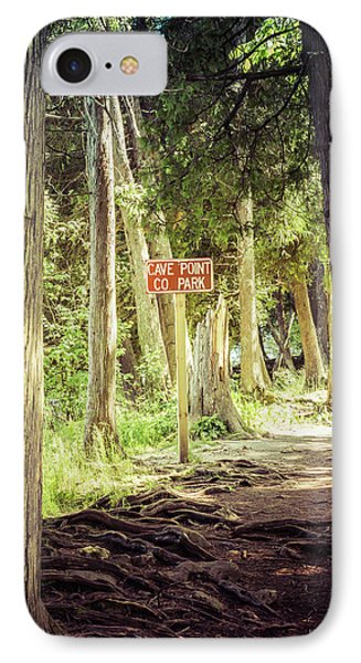 IPhone Case featuring the photograph Cave Point Trails by Joel Witmeyer