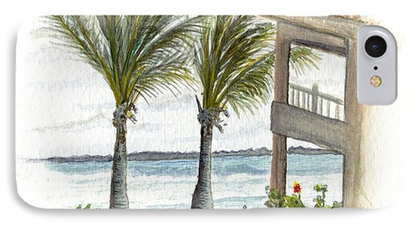 IPhone Case featuring the digital art Cayman Hotel by Darren Cannell