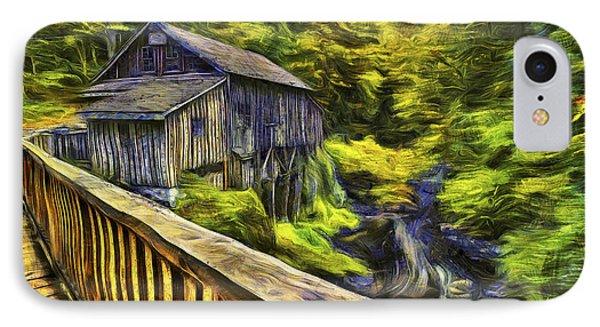 Cedar Creek Grist Mill Van Gogh IPhone Case by Mark Kiver