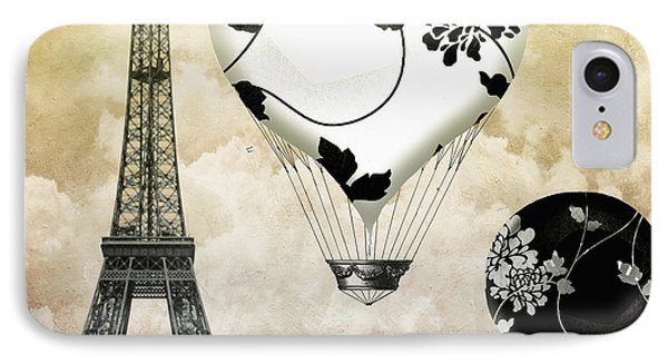 Ceil Jaune II Vintage Hot Air Balloon IPhone Case