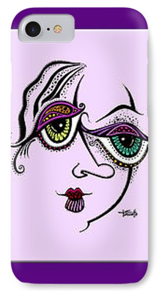 IPhone Case featuring the drawing Celebrate Diversity by Tanielle Childers