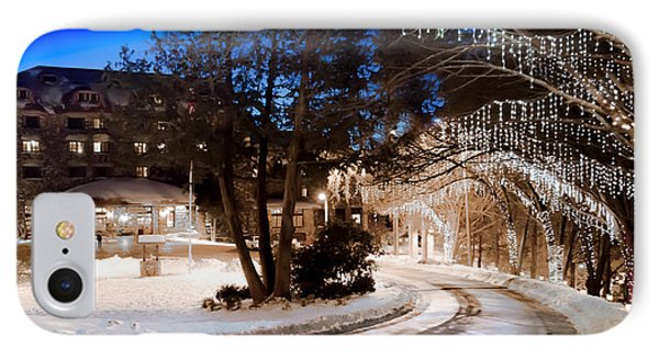 Celebrate The Winter Night IPhone Case by Karen Wiles
