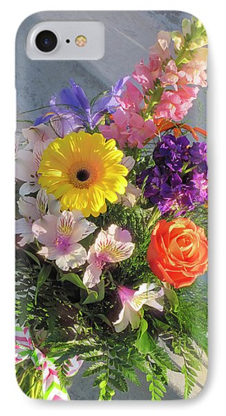 IPhone Case featuring the photograph Celebrate With A Bright Bouquet by Nancy Lee Moran