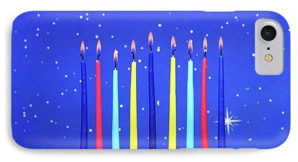 Celebrating Hanukkah IPhone Case by Sheila Fitzgerald