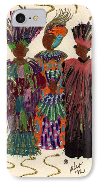 IPhone Case featuring the mixed media Celebration by Angela L Walker