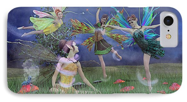 Celebration Of Night Alice And Oz IPhone Case by Betsy Knapp