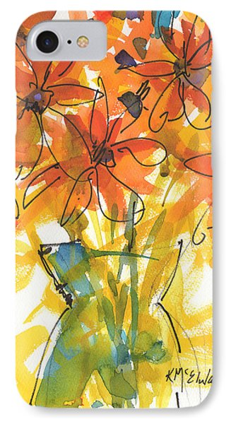 Celebration Of Sunflowers Watercolor Painting By Kmcelwaine IPhone Case by Kathleen McElwaine