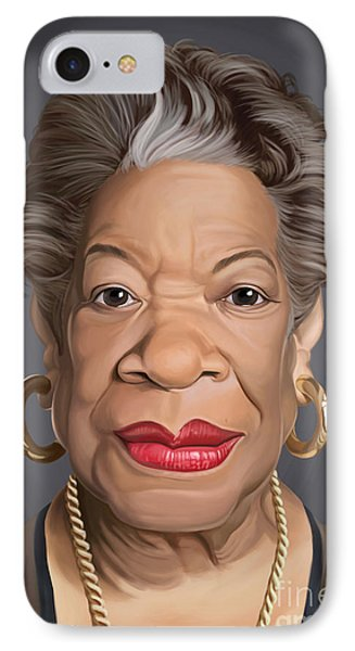 Celebrity Sunday - Maya Angelou IPhone Case by Rob Snow