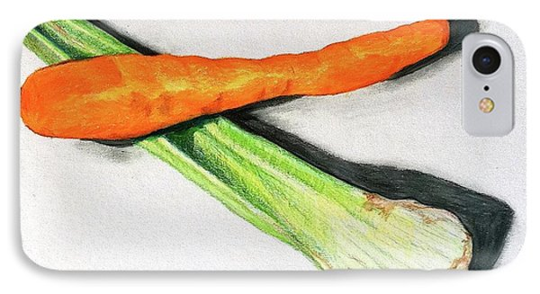 Celery And Carrot Together IPhone Case by Sheron Petrie