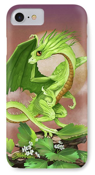 IPhone Case featuring the digital art Celery Dragon by Stanley Morrison