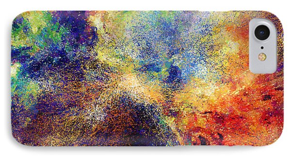 Celestial Explosion Abstract IPhone Case by Georgiana Romanovna