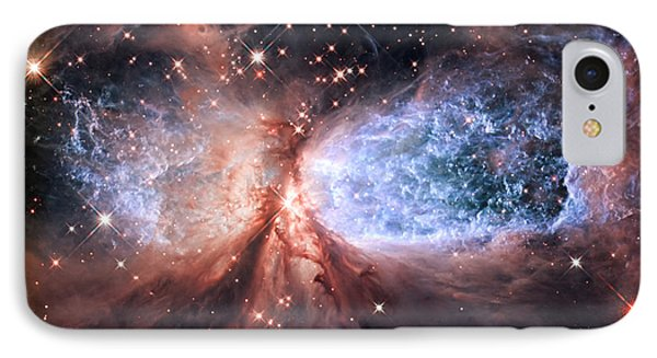 IPhone 7 Case featuring the photograph Celestial Snow Angel - Enhanced - Sharpless 2-106 by Adam Romanowicz