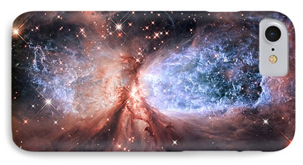 IPhone Case featuring the photograph Celestial Snow Angel - Enhanced - Sharpless 2-106 by Adam Romanowicz