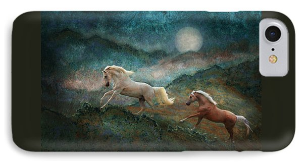 Celestial Stallions IPhone Case by Melinda Hughes-Berland