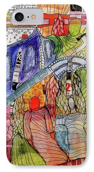 IPhone Case featuring the mixed media Celestial Windows by Mimulux patricia no No