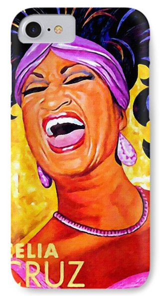Celia Cruz IPhone Case by Lanjee Chee