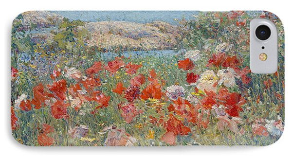Celia Thaxter's Garden, Isles Of Shoals, Maine, 1890 IPhone Case by Childe Hassam