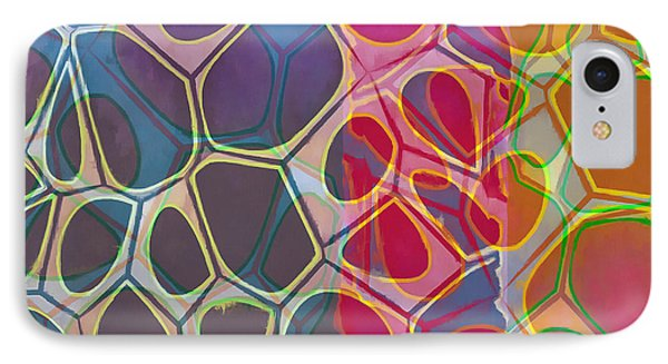 Cell Abstract 11 IPhone Case by Edward Fielding