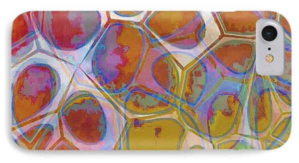 Cell Abstract 14 IPhone Case by Edward Fielding