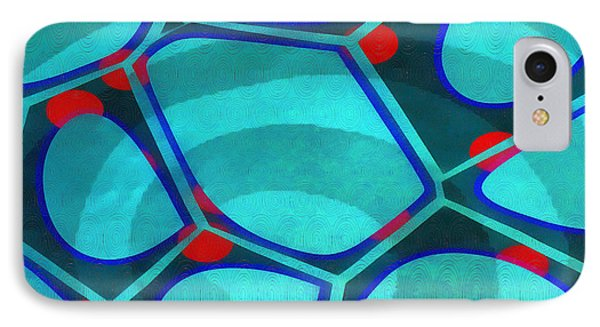 Cell Abstract 6a IPhone Case by Edward Fielding