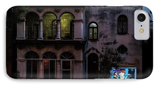 IPhone Case featuring the photograph Cell Phone Shop Havana Cuba by Charles Harden