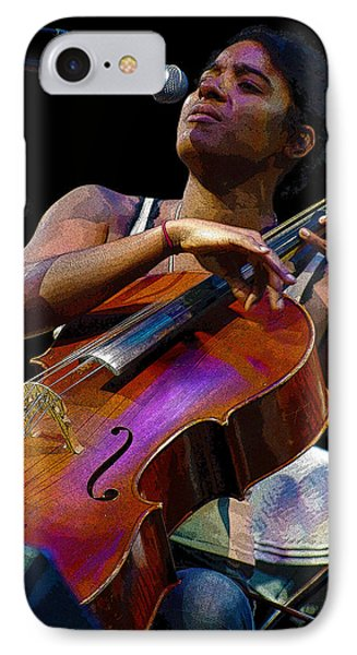 IPhone Case featuring the digital art Cellist by Jim Mathis