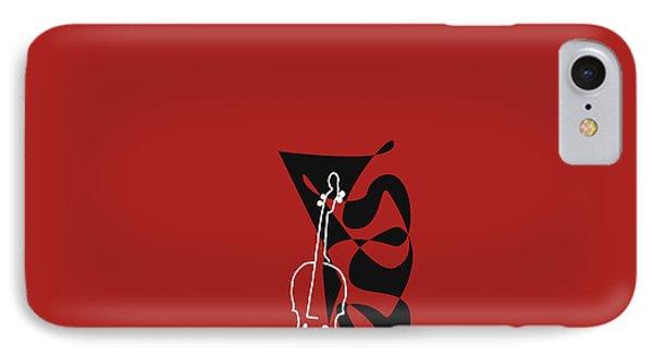 Cello In Orange Red IPhone Case