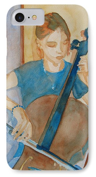 Cello Practice Iv Phone Case by Jenny Armitage