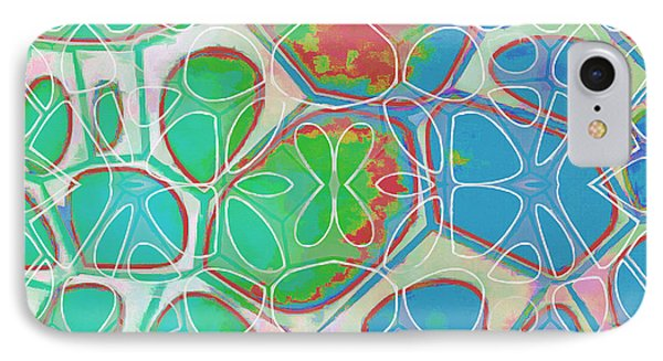 Cells 11 - Abstract Painting  IPhone Case by Edward Fielding