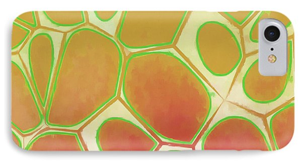 Cells Abstract Five IPhone Case by Edward Fielding