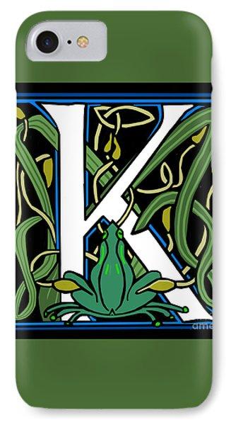 Celt Frog Letter K IPhone Case