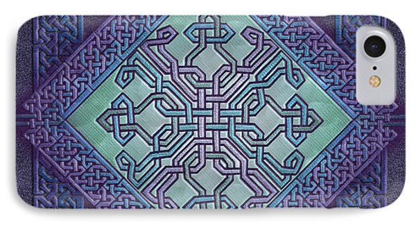 IPhone Case featuring the mixed media Celtic Avant Garde by Kristen Fox