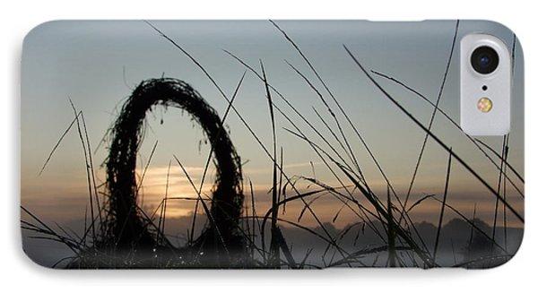 Celtic Circle Dawn-05 Phone Case by Pat Bullen-Whatling