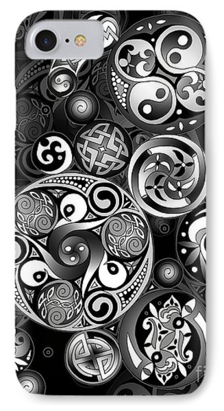 Celtic Clockwork IPhone Case by Kristen Fox