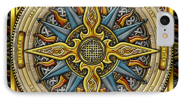 Celtic Compass IPhone Case by Kristen Fox