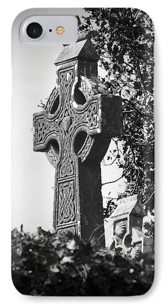 Celtic Cross At Fuerty Cemetery Roscommon Ireland IPhone Case by Teresa Mucha