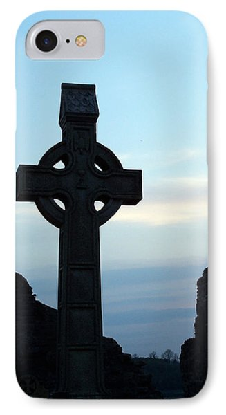 Celtic Cross At Sunset Donegal Ireland IPhone Case by Teresa Mucha