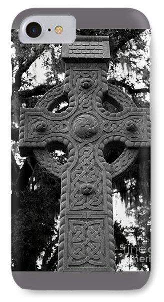 Celtic Cross In Emmet Park Phone Case by Carol Groenen