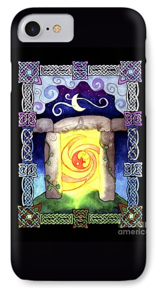 IPhone Case featuring the painting Celtic Doorway by Kristen Fox