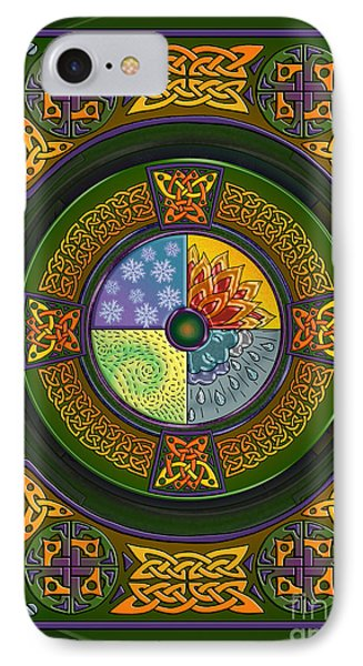 IPhone Case featuring the mixed media Celtic Elements by Kristen Fox
