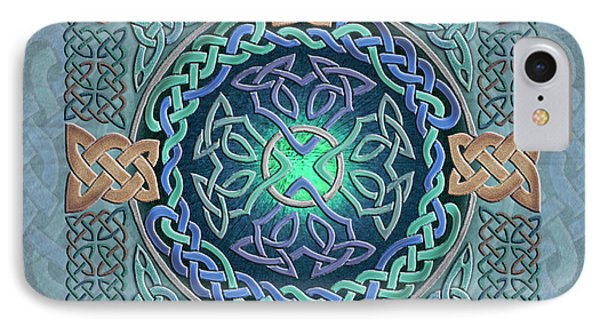 Celtic Eye Of The World IPhone Case by Kristen Fox