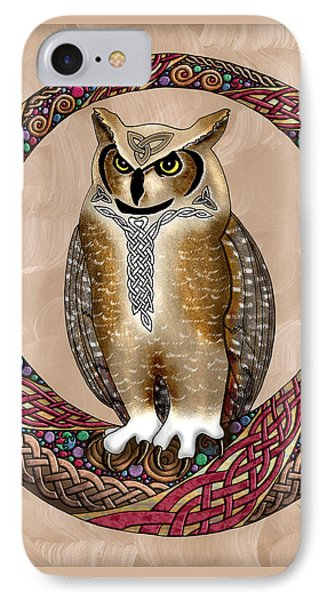 Celtic Owl IPhone Case by Kristen Fox