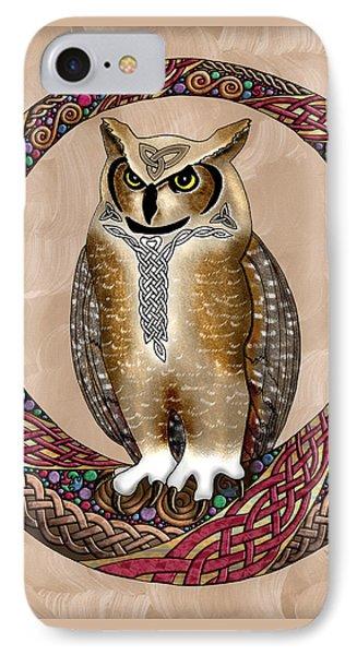 Celtic Owl IPhone Case by Kristen Fox