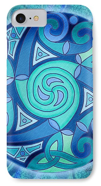 IPhone Case featuring the mixed media Celtic Planet by Kristen Fox