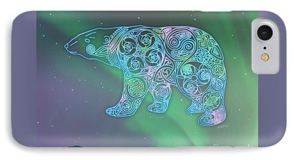 Celtic Polar Bear Phone Case by Kristen Fox