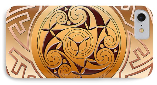 Celtic Spiral And Key Pattern IPhone Case by Melissa A Benson