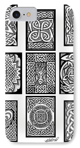 IPhone Case featuring the drawing Celtic Tarot Spread by Kristen Fox