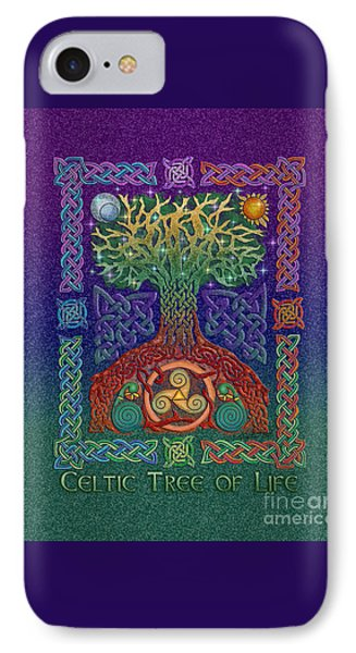 IPhone Case featuring the mixed media Celtic Tree Of Life by Kristen Fox